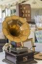 Vintage wedding gramophone Royalty Free Stock Photo