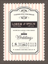 Vintage Wedding invitation border and frame Royalty Free Stock Photo
