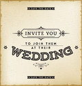 Vintage Wedding Invitation Royalty Free Stock Photo