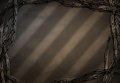 Vintage west stripes of light and shadow with barbed wirte frame Royalty Free Stock Photography