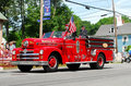 Vintage Westerly, RI Firetruck Royalty Free Stock Photos