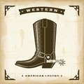 Vintage Western Cowboy Boot Royalty Free Stock Photo