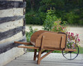 Vintage Wheelbarrow Royalty Free Stock Photo