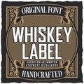 Vintage Whiskey Label Font Poster