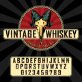 Vintage Whiskey Label Font Poster