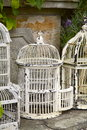 Vintage White Metal Birdcages Stock Image