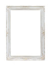 Vintage white photo frame isolated on background Stock Photography