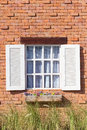Vintage white window Stock Images