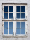Vintage white windows Royalty Free Stock Photos