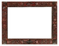 Vintage wide carved wooden picture frame Royalty Free Stock Photo