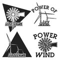 Vintage wind power emblems