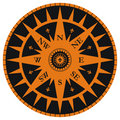 Vintage wind rose with fleur-de-lis Royalty Free Stock Photo