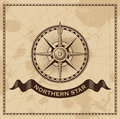 Vintage Wind Rose Nautical Compass Royalty Free Stock Photo