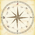 Vintage wind rose on the old paper eps Stock Images