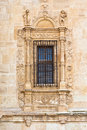 Vintage window in ancient monastery Royalty Free Stock Images