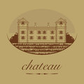 Vintage wine label abstract illustration Royalty Free Stock Photos