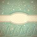 Vintage winter background Stock Image