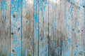 Vintage wood background with blue color peeling paint. Royalty Free Stock Photo