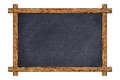 Vintage wood framed slate chalkboard. Royalty Free Stock Photo