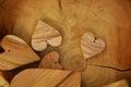 Vintage Wood Hearts, Background