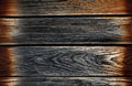 Vintage wooden background planks with burned edges Royalty Free Stock Photos