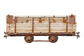 Vintage wooden car for narrow-gauge railway Royalty Free Stock Photo