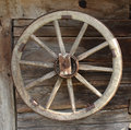 Vintage wooden carriage wheel wood background Royalty Free Stock Photos