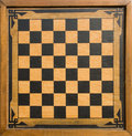 Vintage wooden chessboard Royalty Free Stock Photo