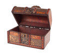 Vintage wooden chest Royalty Free Stock Photos