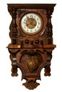 Vintage wooden clock Royalty Free Stock Images