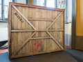 Vintage wooden crate Royalty Free Stock Photo