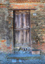 Vintage wooden door. Royalty Free Stock Image