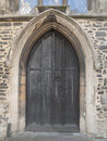 Vintage wooden door it is a of a church Royalty Free Stock Photos