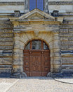 Vintage wooden door, Dresden, Germany Royalty Free Stock Photo
