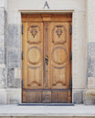 Vintage wooden door, Dresden Germany Royalty Free Stock Photo