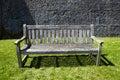Vintage wooden garden bench Stock Photography