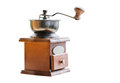 Vintage wooden hand coffee grinder Royalty Free Stock Photo