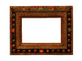 Vintage wooden ornate picture frame Royalty Free Stock Images