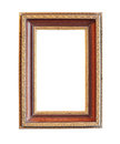 Vintage wooden photo frame clipping path Stock Photos