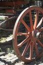 Vintage - Wooden Wagon Wheel Royalty Free Stock Photo