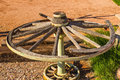 Vintage Wooden Wagon Wheel On ...