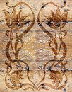 Vintage wooden wallpaper Stock Image