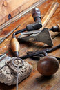 Vintage woodworking tools Stock Images