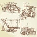 Title: Vintage work vehicles