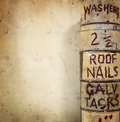 Vintage Workshop Background Royalty Free Stock Photo