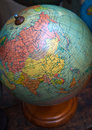 Vintage world globe, URSS and Middle East Royalty Free Stock Photo