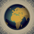 Vintage world map. Royalty Free Stock Image