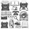 Vintage Writer Elements Set Royalty Free Stock Photo