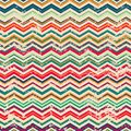 Vintage zigzag seamless pattern with grunge effect eps Royalty Free Stock Photos