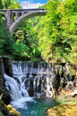 Vintgar gorge canyon with wooden pats, beauty of nature,Bled,Slovenia
